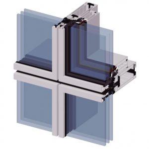 профильная система Alutech F50 алюминиевый профиль для остекления