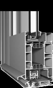 теплый алюминиевый профиль для дверей и входных групп